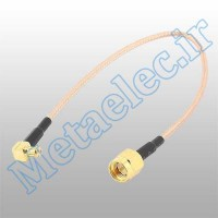 کابل SMA Male To Right Angle MCX Plug به طول 10 سانتی متر - ME-1139-1