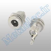 جک آداپتوری مادگی فلزی پنلی استاندارد 2.1mm قطر پین داخل- ME-1153