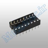 سوکت 16 پایه ساده / socket-16p-com