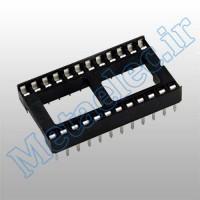 سوکت 24 پایه ساده / socket-24p-wide-com