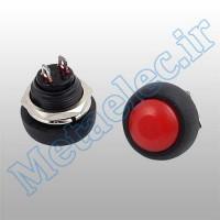 پوش باتن / کلید ریستی پنلی قطر 12mm با شستی قرمز کیفیت بالا PBS-33B