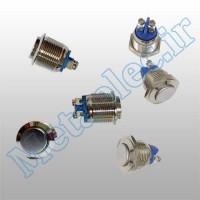 پوش باتن / کلید فلزی ریستی Reset قطر 16mm ضد آب